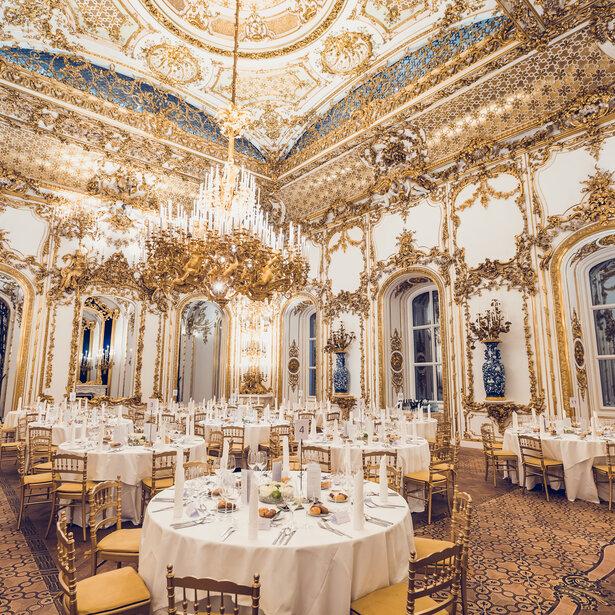 CITY PALACE Ballroom gala dinner © Palais Liechtenstein GmbH/ Fotomanufaktur Grünwald